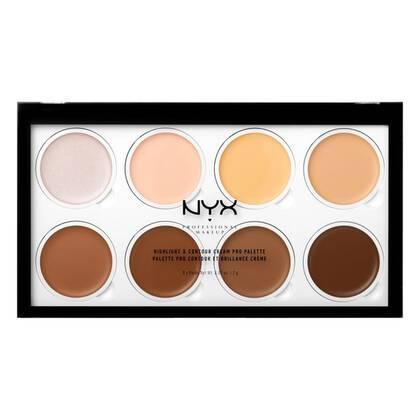 Highlight & Contour Cream Pro Palette